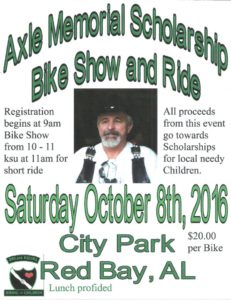 Axle Memorial Scholarship Bike Show and Ride