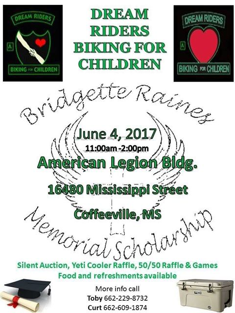 Bridgette Raines Memorial Scholarship Ride