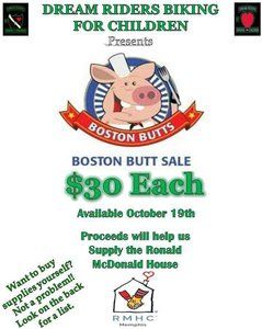 Raising money for Ronald McDonald house