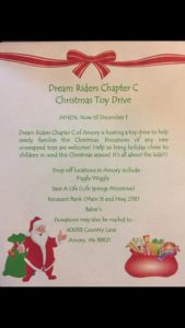 Chapter C, Amory MS. Toy Drive