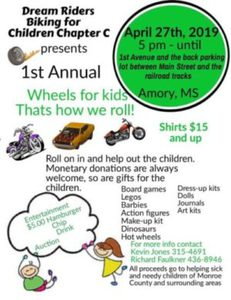 WHEELS FOR KIDS! AMORY MS.